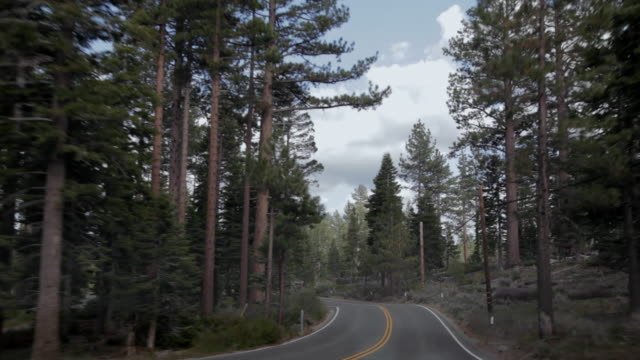 POV driving through Lake Tahoe