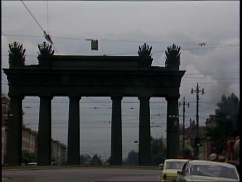 pov of driving through leningrad streets - anno 1987 video stock e b–roll