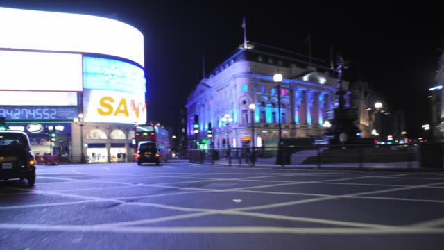 T/L POV Driving through London at night / Greater London, UK