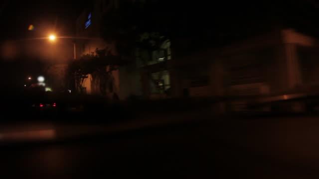 POV driving through Los Angeles Night