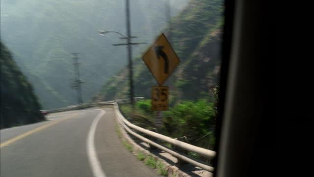 WS POV Driving through Malibu canyon road / California, USA