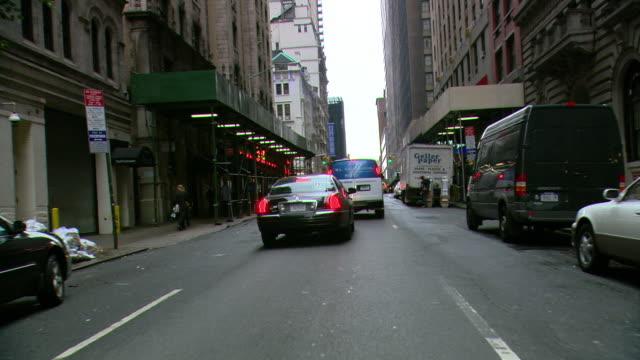 TS / FRONT VIEW / Driving Through Manhattan / New York City / NY NY