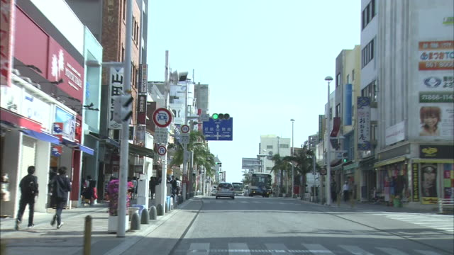Driving Through Naha Kokusai Street In Okinawa