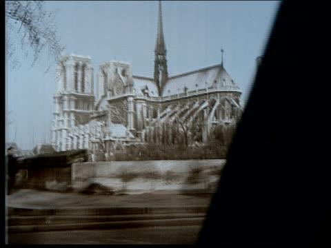 1965 driving through paris - avenue des champs elysees stock videos & royalty-free footage