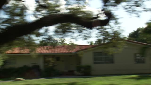 side pov driving through residential part of miami / florida, usa - 2007 stock videos & royalty-free footage