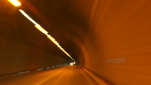 HD Driving Through Road Tunnel Time Lapse
