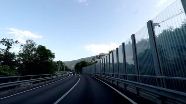 stockvideo's en b-roll-footage met driving through road tunnels, car travel, road trip in switzerland - kabel