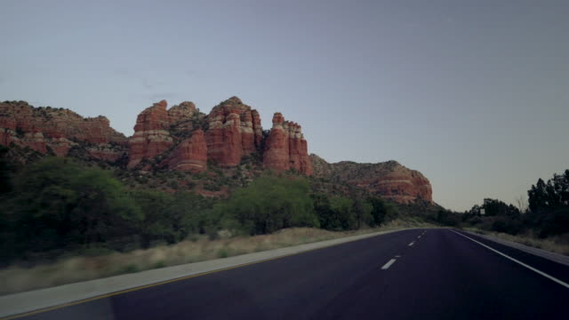 driving through sedona arizona - sedona stock videos & royalty-free footage