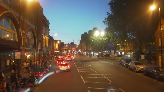 driving through shoreditch, london - dusk stock videos & royalty-free footage