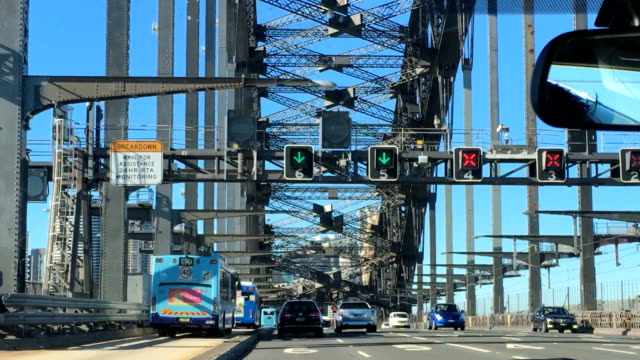 driving through sydney harbour bridge - sydney australia stock videos and b-roll footage