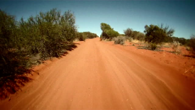 ntsc: driving through the australian outback - dirt track stock videos and b-roll footage