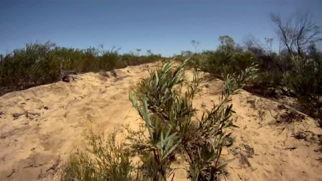 ntsc: guida attraverso l'entroterra australiano - fuggire video stock e b–roll