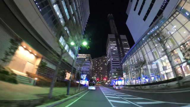 driving through the city at night - plusphoto stock videos & royalty-free footage