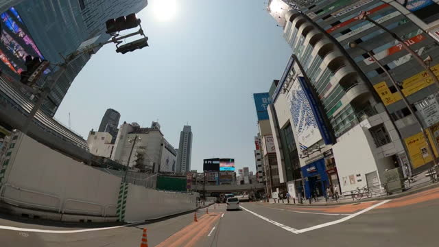 driving through the city at the sunny day. shibuya tokyo. - plusphoto stock videos & royalty-free footage