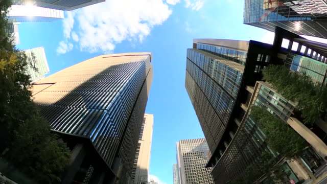 driving through the city | looking directly up at the skyline - plusphoto stock videos & royalty-free footage