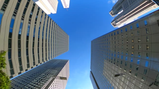 driving through the city / looking directly up at the skyline - plusphoto stock videos & royalty-free footage