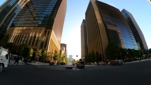 driving through the city - low angle view stock videos & royalty-free footage