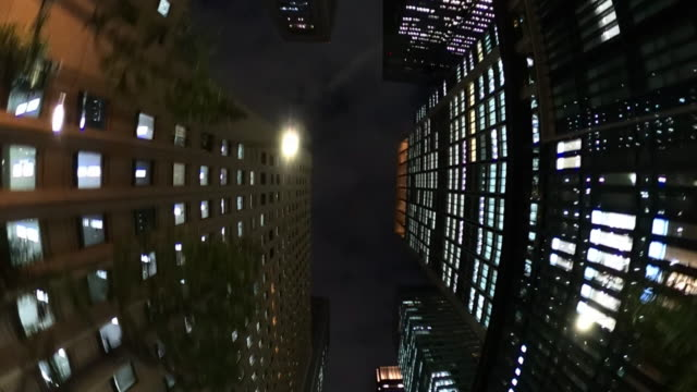 driving through the night building | look up - plusphoto stock videos & royalty-free footage