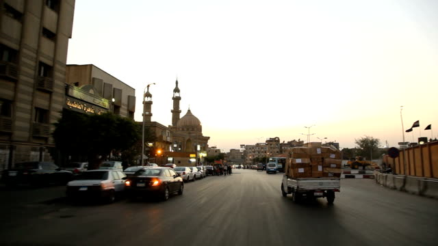 POV driving through the streets of / Cairo/ Egypt