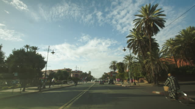 driving through the streets of marrakesh - taxi stock videos & royalty-free footage
