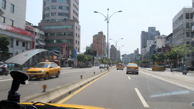 Driving through the streets of Taipei