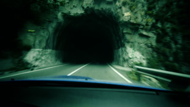 Driving through the tunnel