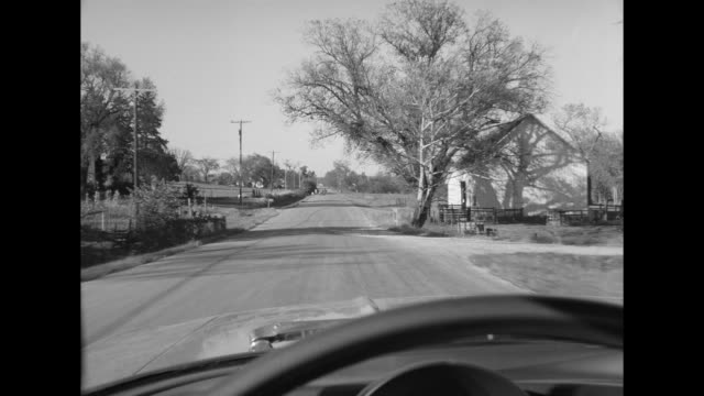 1962 pov driving through town - 1962 stock videos & royalty-free footage