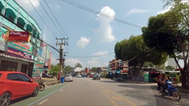 stockvideo's en b-roll-footage met rijden door trang city, thailand rijproces plaat - trang province