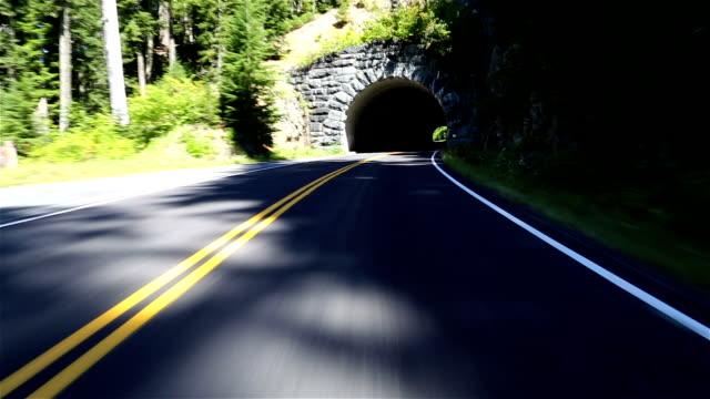 driving through tunnel - mount rainier bildbanksvideor och videomaterial från bakom kulisserna