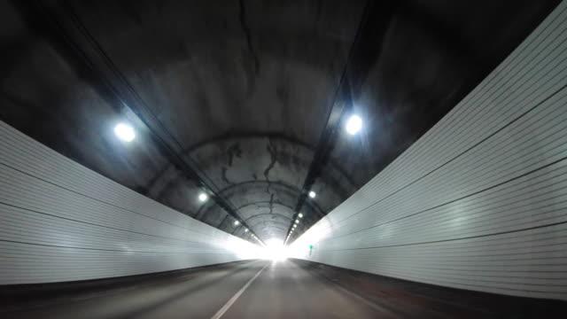 driving through tunnel / yeoju-si, gyeonggi-do, south korea - stationary process plate stock videos & royalty-free footage