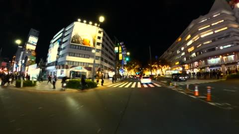 driving through winter night illumination in omotesando, tokyo - pedestrian walkway stock videos & royalty-free footage