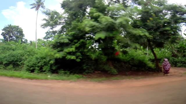 Driving through Zanzibar's island