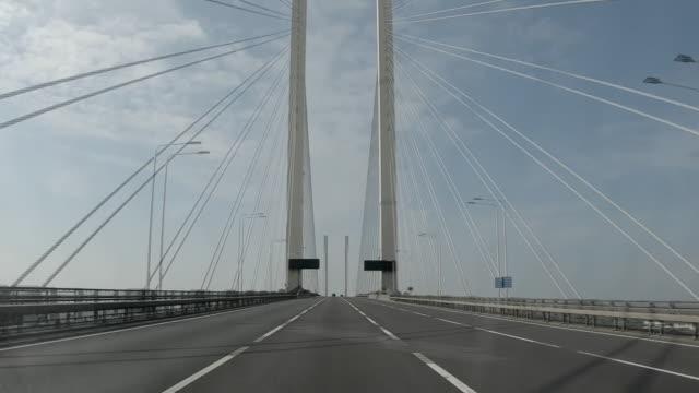 driving time lapse of empty motorways during the coronavirus lockdown - motorway stock videos & royalty-free footage