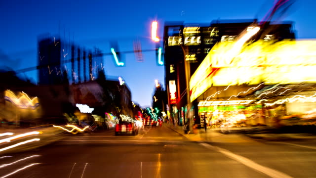 Driving POV Time Lapse Through Downtown Portland Oregon