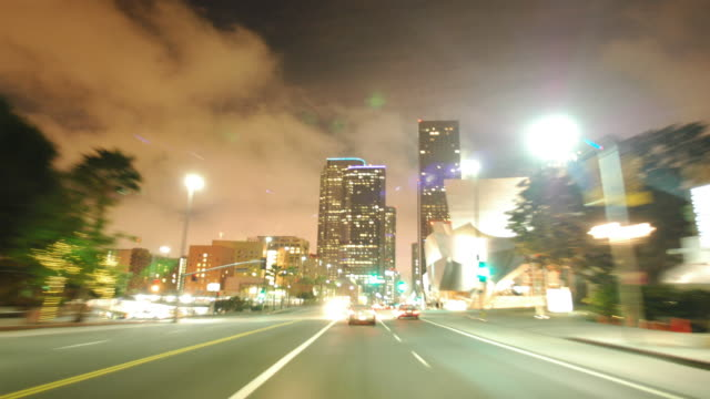 Driving timelapse Downtown Los Angeles