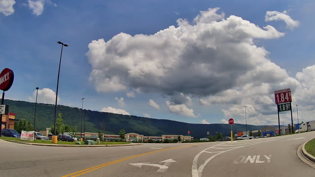 driving to walmart shopping center in a small town in tennessee amid the 2020 global coronavirus pandemic - tennessee stock videos & royalty-free footage