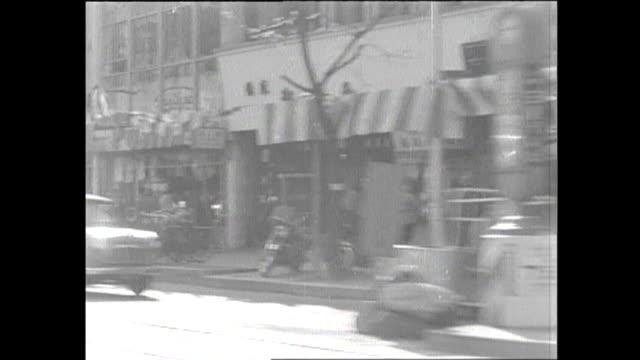 vídeos de stock e filmes b-roll de 1959 driving pov tokyo ginza district - 1950 1959