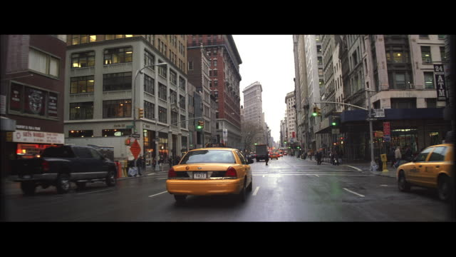WS Driving towards the Flatiron Building / New York City, New York, United States