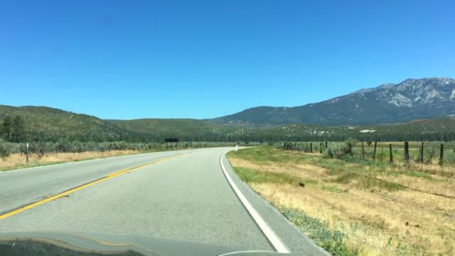 Driving towards the San Jacinto Mountains near Idyllwild, California