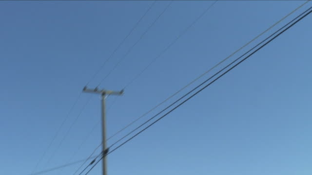 pov, la, driving under power lines, california, usa - telegraph pole stock videos and b-roll footage