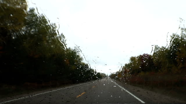 Driving under rain with on board camera