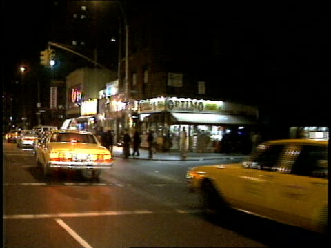 driving up 3rd avenue in the east village in new york city, filmed from a moving car. - greenwich village stock videos & royalty-free footage