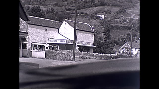 driving up through the somerset village of cheddar past a petrol station milk bar and up to jacobs ladder the dashboard provides copy space - geology stock videos & royalty-free footage