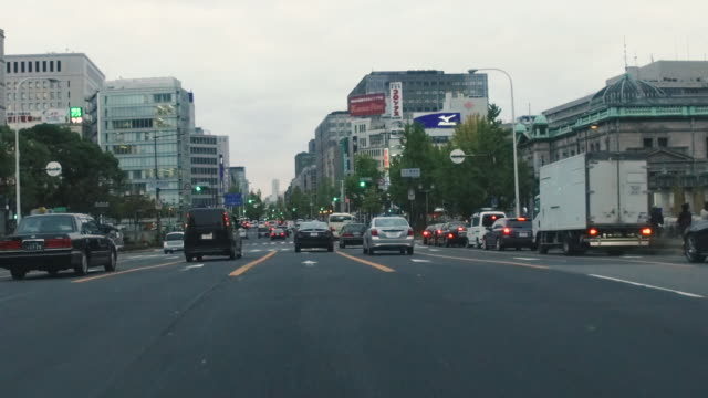 Driving urban road by car