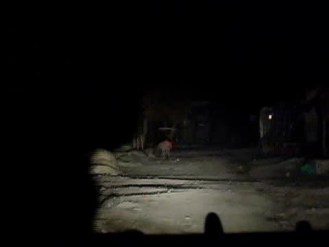 driving pov us army vehicle on night patrol/ afghanistan - civil war stock videos & royalty-free footage