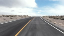Driving USA: Exciting journey on road through the desert, California, USA