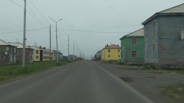 Driving POV; Ust-Kamchatsk, Kamchatka, Russia