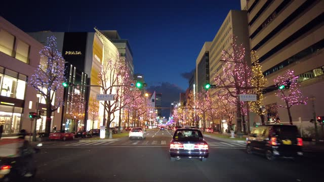 driving video of osaka, japan at night. - tail light stock videos & royalty-free footage