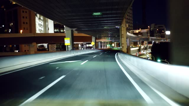 driving video of the metropolitan expressway. - town stock-videos und b-roll-filmmaterial