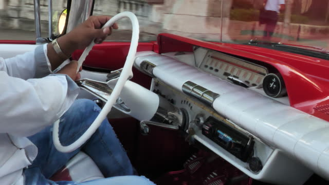 driving vintage car - collector's car stock videos and b-roll footage